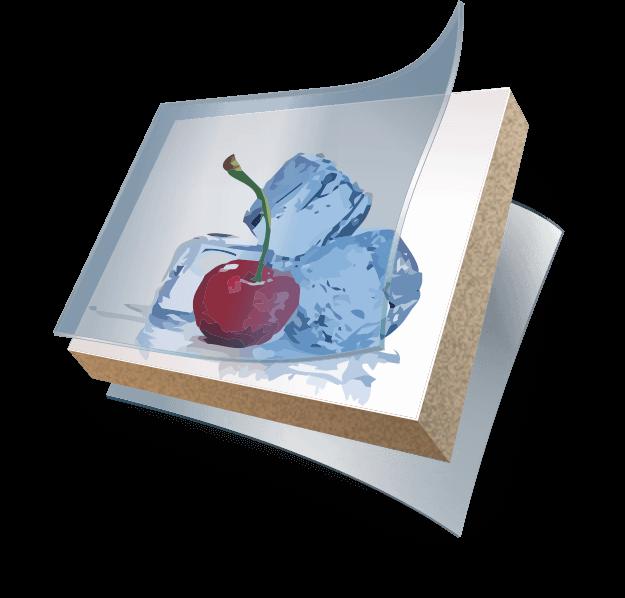 Ламинированный кухонный фартук мдф шелк с УФ-печатью - deco-ton.ru